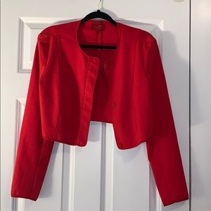 Narciso Rodriguez Red Cropped Blazer